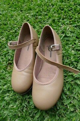 Tap Shoes Tan Size US 11 (Girl 4-5 year old)