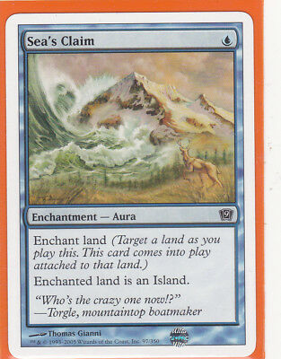 MTG 9th Edition (Core) 1 x SEA'S CLAIM 97/350 Enchantment  Never Played AS NEW