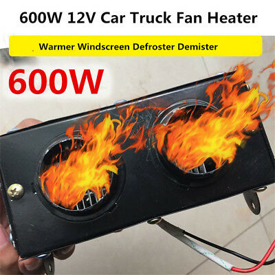 Portable 12V 600W Car Auto Heating Heater Fan Defroster Demister Warmer Safety
