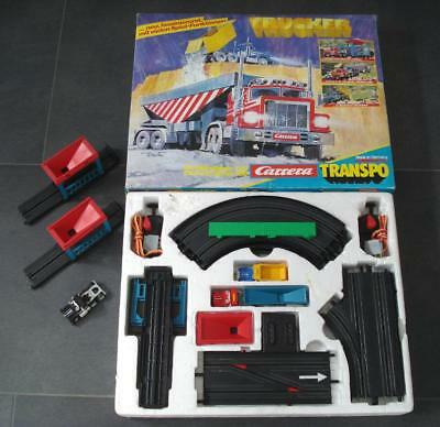 Rar ! CARRERA 160 TRANSPO TRUCKER SET # 65800 in OVP + Zubeh. + 1 Truck von 1982