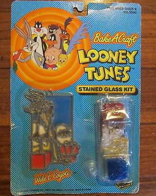 Warner Bros Looney Tunes Wile E Coyote Bake A Craft Stained Glass Kit New Sealed