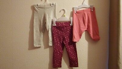 Baby girls bundle of 3 leggings age 12-18 Months