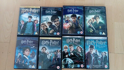 **new Or Watched Onces**job Lot,clearence Harry Potter Films Dvds**