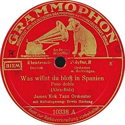 James Kok - Was willst du bloß in Spanien / Donna Ines - 1935