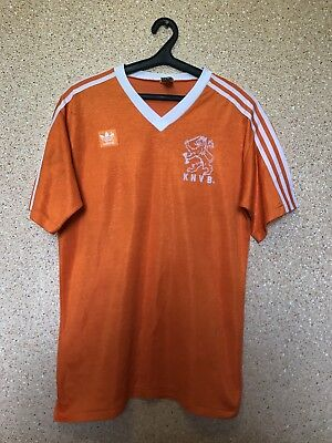Rare NETHERLANDS HOLLAND 1985/1988 HOME FOOTBALL SHIRT JERSEY ADIDAS