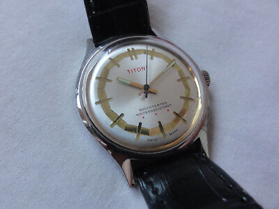 Vintage Gents Airmaster Titoni watch Manual wind retro working art deco rare 60s