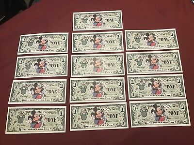 $1 Disney Dollar Mickey Mouse new crisp and UNCIRCULATED A Series 2000
