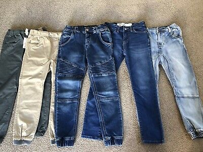Boy's Size 8 Bulk Pants / Chinos / Jeans - x5 - Indie Kids, Riders & Cotton On