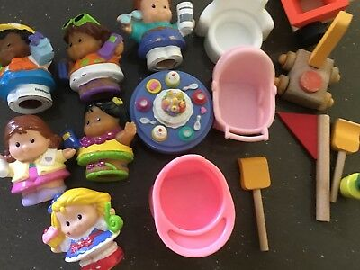 FISHER PRICE Little People And Furniture Bulk Lot