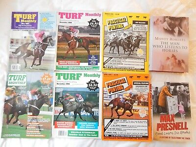 Mixed Horse Racing 4 Turf Monthly + 2 Practical Punting + 2 Books Max Presnell