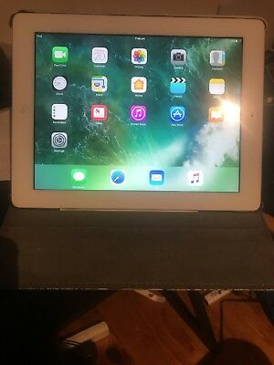 Apple iPad 4th Gen. 32GB, Wi-Fi, 9.7in - White with cover