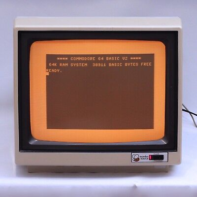 "MicroBee 30CM / 12"" Amber Phosphor Composite Input CRT Display Monitor *WORKING*"