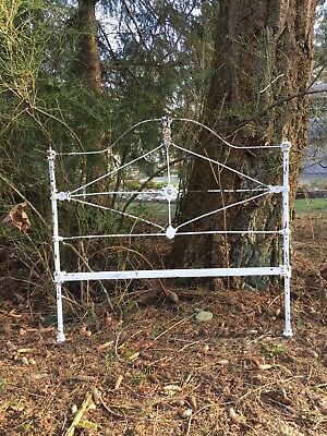 Antique cast iron bed frame full size