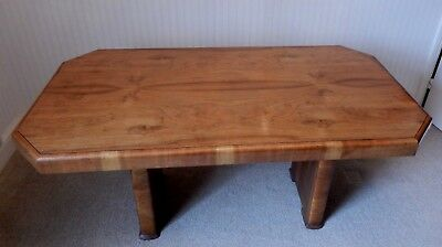 Art Deco Walnut Veneer Dining Table H 74 x W 156 x D 80 cm