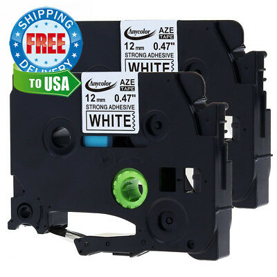 Anycolor 2 Pack Compatible Brother P-touch Extra Strength TZe Label Tape...