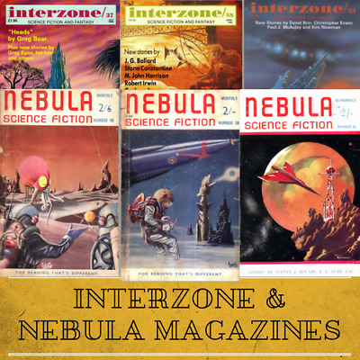 Interzone & Nebula Science Fiction Magazines 109 Rare Vintage Magazines Data DVD