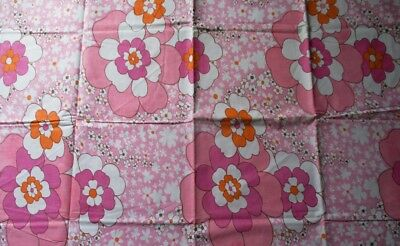 RETRO VINTAGE 1970s 'NEW' QUALITY PURE COTTON  MID WEIGHT FABRIC 225CM X 251CM