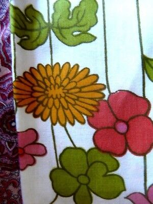 RETRO VINTAGE 1970s 'NEW' QUALITY PURE COTTON  MID WEIGHT FABRIC 225CM X 160 CM