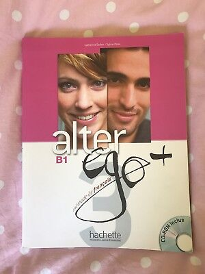 B1 Hachette French Textbook Alter + Ego with CD