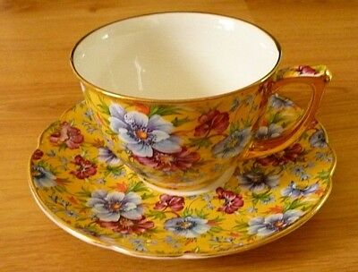 James Sadler Chintz. Cup & saucer   Lovely condition.
