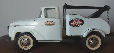 Vintage 1960's Tonka Black & White Wrecker Truck Well Played With Mound Minn.