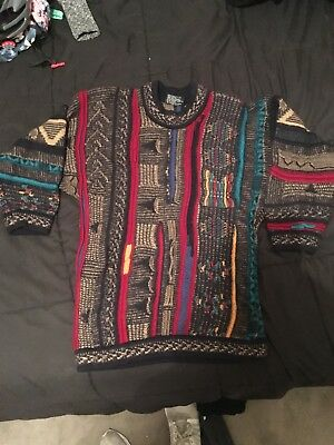 Vintage 90's authentic COOGI Australia wool Sweater XL (fits like S) textured 3D