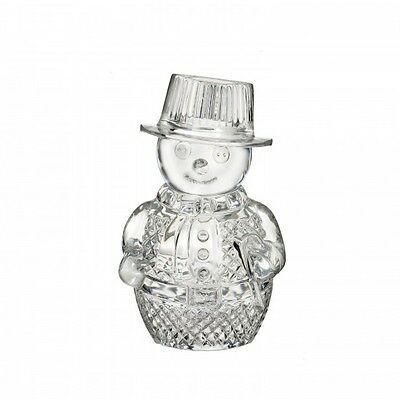 Waterford Crystal Snowman Sculpture Figurine Waterford Gift Box # 40023138