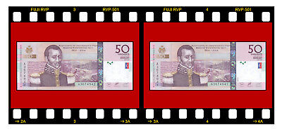 HAITI 2 PCS 2 X P-274a 50 GOURDES 2004 BANKNOTES UNC CONSECUTIVE SERIAL NUMBERS