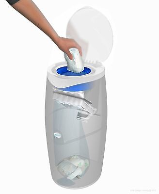 AngelCare Baby Changing Nappy Bag Disposal System Bin 1 Refill Cassette White