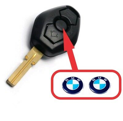 2 X 11 mm BMW Key Fob Badge/Emblem. Suitable For 1,3,5,6,7 Series, M3,M5,X5,X6