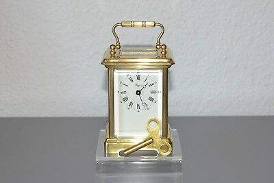 RAPPORT Vintage Carriage clock. Made in France. Brass. Restored. Working order