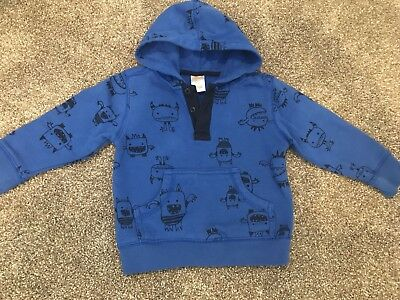 Gymboree Boys Monsters Everyday All Star Hooded Sweatshirt 18-24 Months