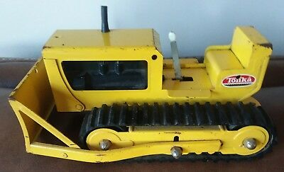 Vintage 1960's Tonka Yellow Bulldozer Well Played With Good Condition Mound Minn