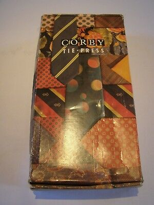 Vintage Corby Tie Press with Box and Instruction Leaflet full working order