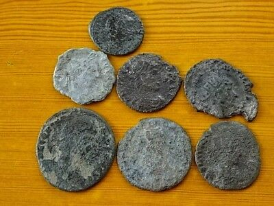 Lot of 7 Ancient Roman Bronze Coins 3rd - 4th Century AD Very Rare