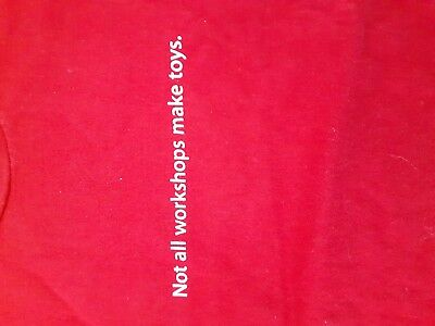 Apple Employee Long Sleeve Christmas T shirt S red Not all workshops make toys