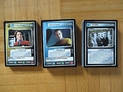 Star Trek THE VOYAGER  C / UC / S Set - 130 of 146 cards ccg tcg TNG TV USS 7of9