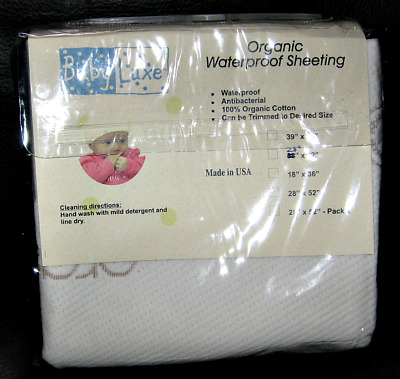 "NEW L.A. Baby Babyluxe Organic Waterproof Sheeting, 28"" x 42"""