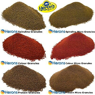 HERONS Premium Tropical Fish Food Granules AQUARIUM FISH FOOD For all species