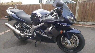 2003 Honda CBR600F, blue, lots of extras.