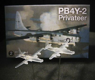 1/700 Consolidated PB4Y-2 Privateer - (x2) 3D Printed - Pacific!
