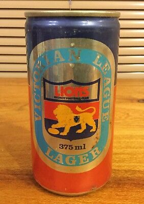 """Coopers. Victorian League Lager 375ml. VFL. """"Fitzroy Lions""""  Beer Can"""