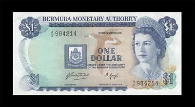 1.12.1976 British Colony Bermuda Qeii $1 (( Gem Unc ))
