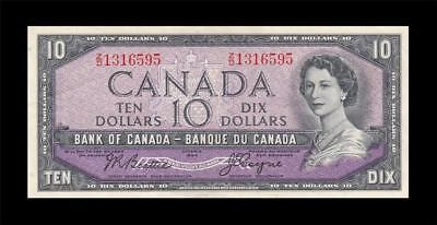 1954 BANK OF CANADA QEII $10 **Beattie & Coyne** (( aUNC ))