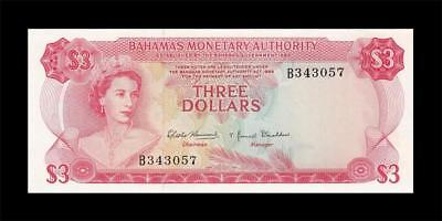 1968 British Colony Bahamas 3 Dollars Qeii $3 (( Gem Unc ))