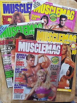 1990 MUSCLEMAG INTERNATIONAL MAGAZINES No.s  97,98,99,100,101