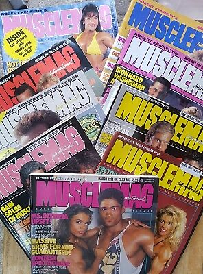 1991 MUSCLEMAG INTERNATIONAL MAGAZINES No.s  106,107,108,110,111,112,113,114,115