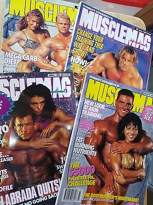 1995 MUSCLEMAG INTERNATIONAL MAGAZINES No.s  154,155,157,158