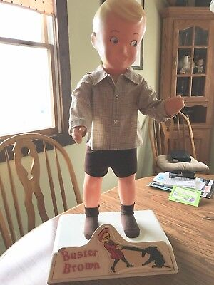 Buster Brown Display Mannequin  With Original Base  Pants/Shirt/Fifty's