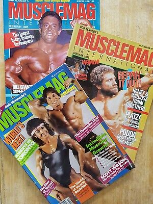 1985 MUSCLEMAG INTERNATIONAL MAGAZINES No.s  48,49 +??